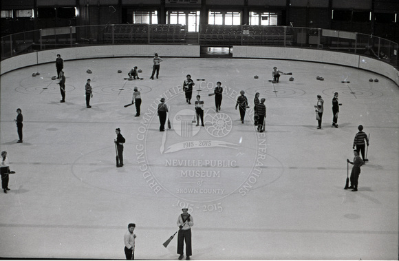 Women Curling at the Brown County Arena