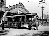 A Street Car with People