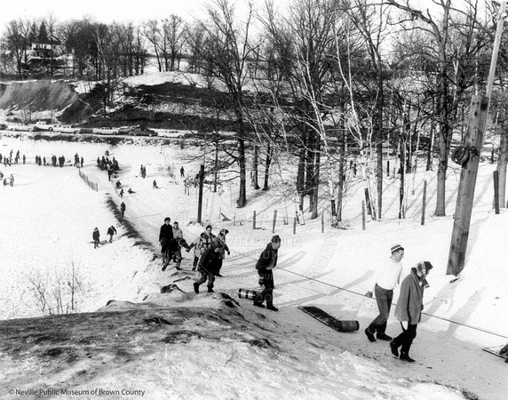 Sledding at Bairds Creek