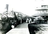 Green Bay and Western Depot, West Mason Street, Green Bay, ca 1900